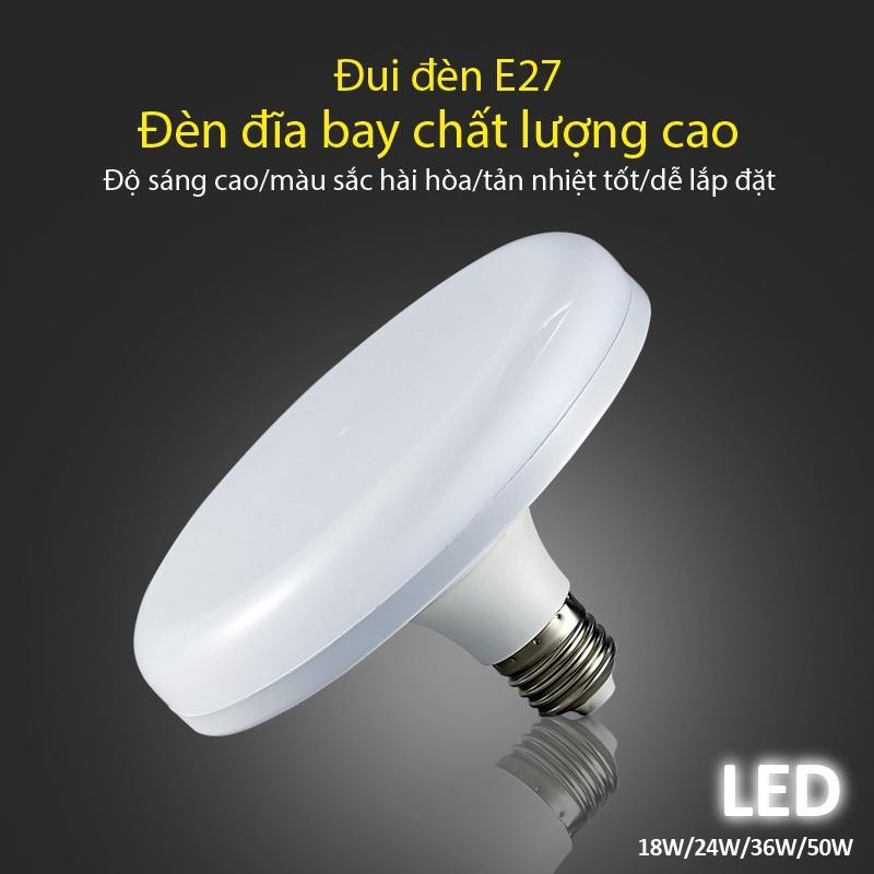 Bóng đèn Led hình đĩa bay siêu tiết kiệm điện siêu sáng (18W24W36W50w) ánh  sáng trắng bảo hành 1 năm Led E28 | Shopee Việt Nam