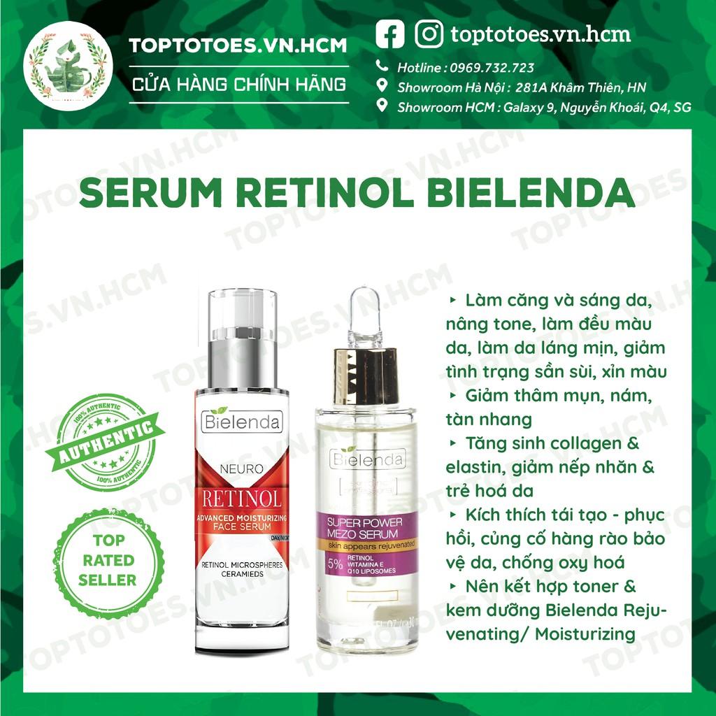 Serum Retinol Bielenda Neuro/ Mezo Skin Clinic trẻ hoá, làm da căng bóng, mờ thâm sẹo