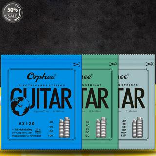 Orphee VX Series 4/5/6 pcs Electric Bass Strings Hexagonal Steel Nickel Alloy Wire Medium Light