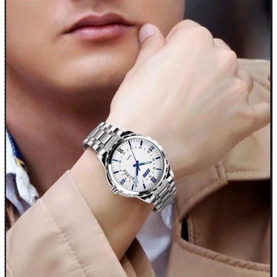 Đồng hồ thời trang nam SKMEI 9069 Sk1 mặt tròn dây kim loại kèm lịch ngày cực hot b45c