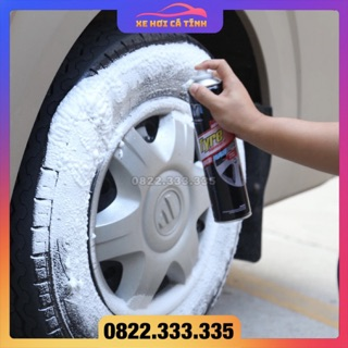 Xịt bọt dưỡng lốp ô tô, dung dịch tẩy sach làm đen lốp, chất bảo quản tẩy rửa làm mới lốp xe hơi thumbnail