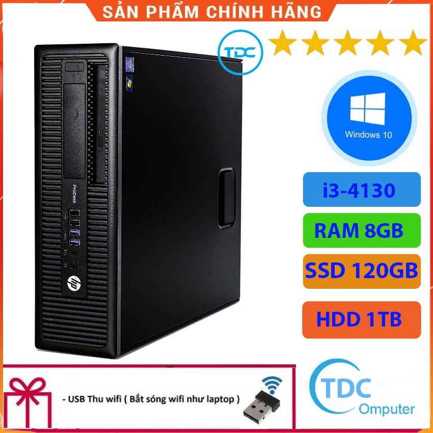 Case máy tính để bàn HP 600G1 CPU i3-4130  Ram 8GB SSD 120GB + HDD 1TB Tặng USB thu Wifi