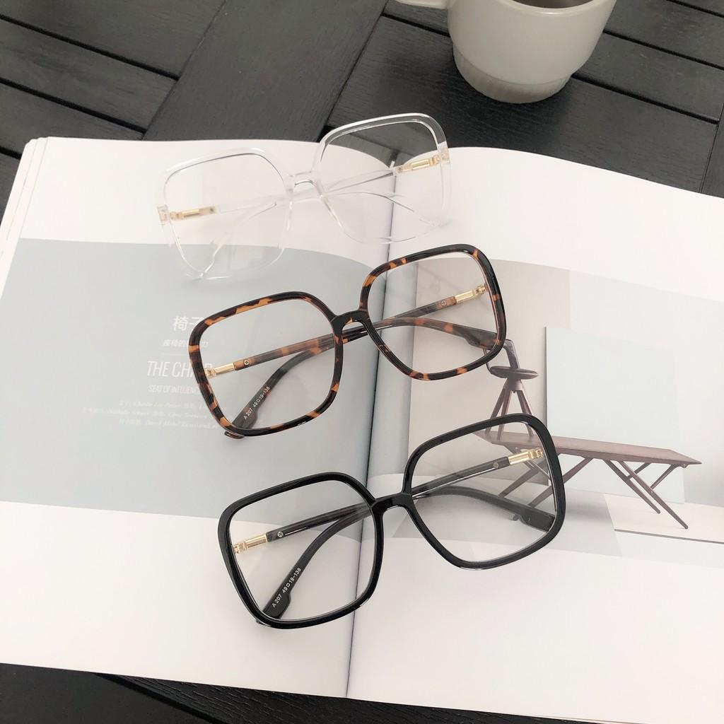 กล่องใส่แว่นตาหญิงตาข่ายสีแดงสีดำขนาดใหญ่กล่องหนาธรรมดาขี้เกียจกระจกตกแต่งเวอร์ช