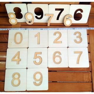 Bộ 10 số nhám – kích thước mỗi số 12x12Cm