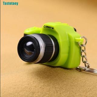 【Tastetaey】Cute Mini Toy Camera Charm Keychain With Flash Light&Sound Effect Gift