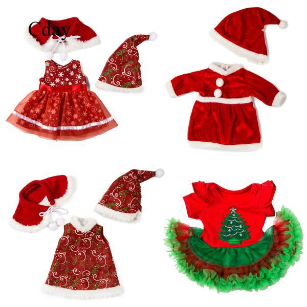 Christmas Style Doll Outfits Clothes Costume for 18 inch American Girl C74 Cday