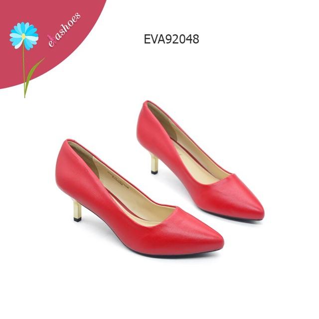 Giày Cao Gót Đế Ánh Kim Evashoes - Eva92048(Màu Đen,Kem,Đỏ)