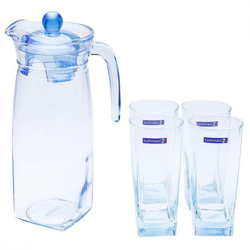 Bộ bình ly thủy tinh Luminarc Flame Blue 5