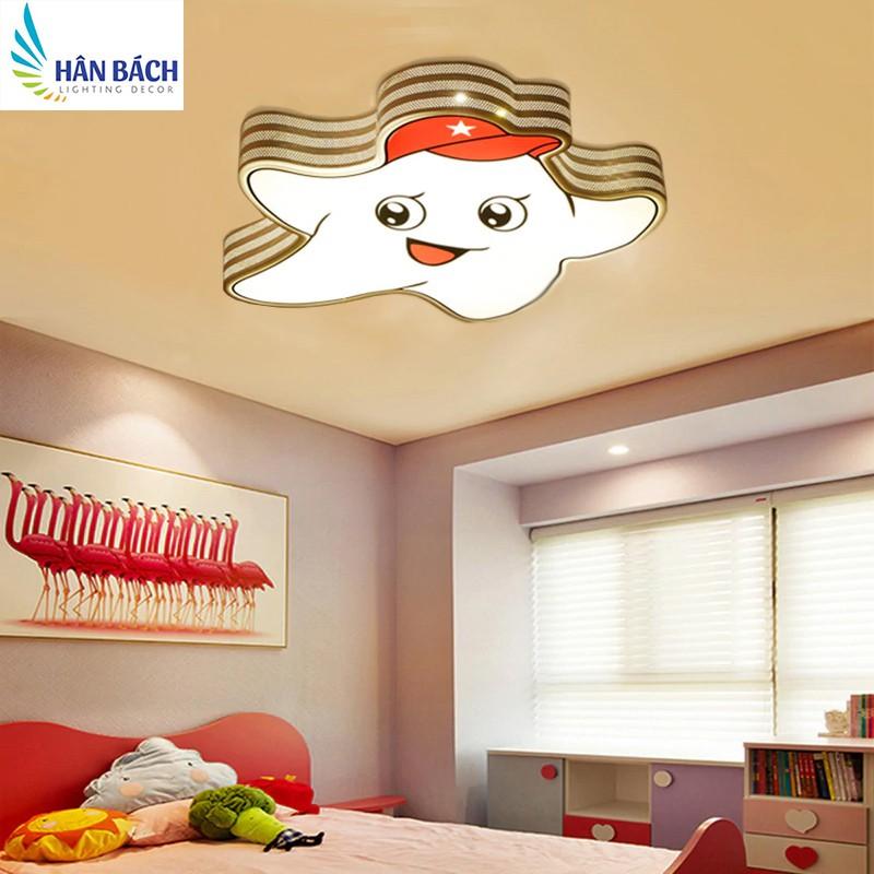 Đèn Mâm LED Ốp Trần Trang Trí Phòng Ngủ Cho Bé Hình Ngôi Sao Led 3 Chế Độ Màu