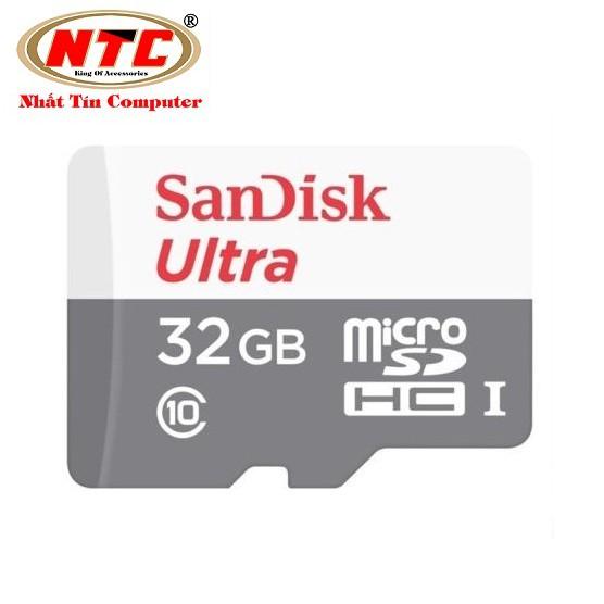 Thẻ nhớ MicroSDHC SanDisk Ultra 32GB 533X 80MB/s (Bạc) - Hàng chính hãng