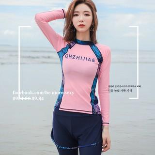 Đồ bơi nữ dài tay phong cách Hàn Quốc