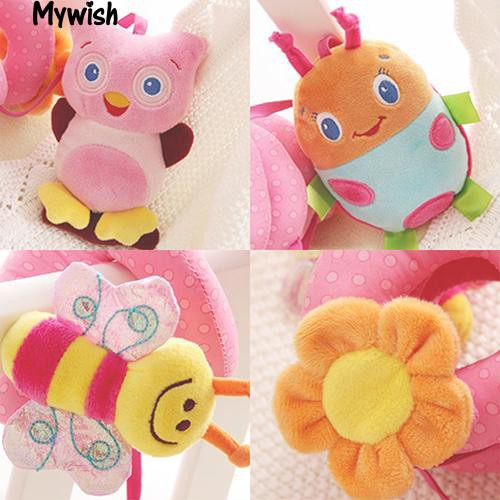 🏆Multifunction Baby Bed Hanging Rattle Butterfly Bee Owl Soft Crib New Toy