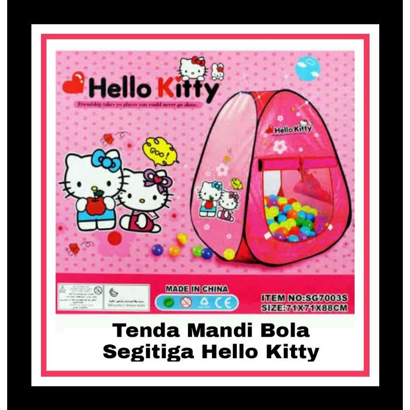 TENDA Lều Tắm Hình Tam Giác Hình Hello Kitty Xinh Xắn