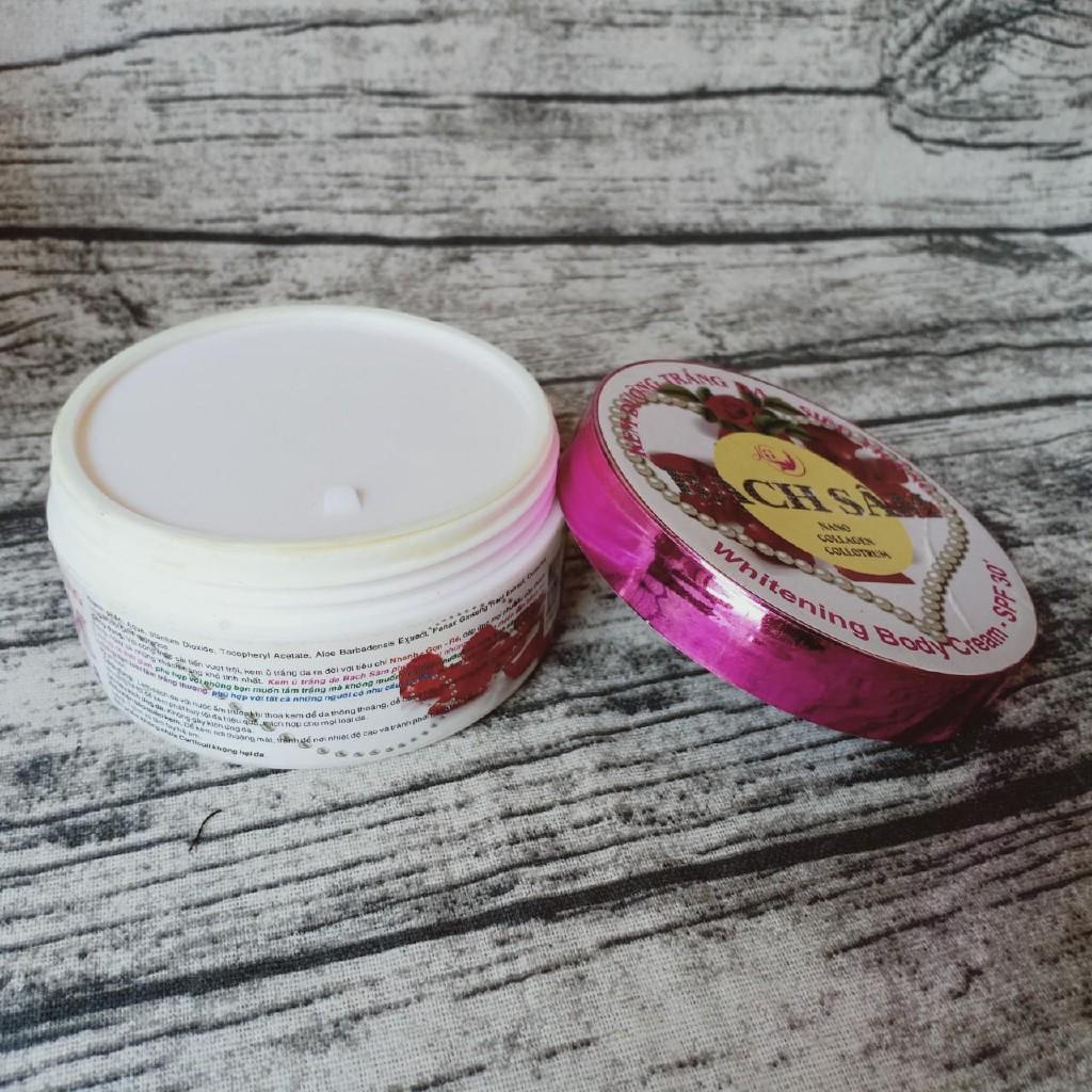 Hàng tốt giá sốc Kem ủ dưỡng trắng da toàn thân Bạch Sâm 250g (Trắng - Tím)