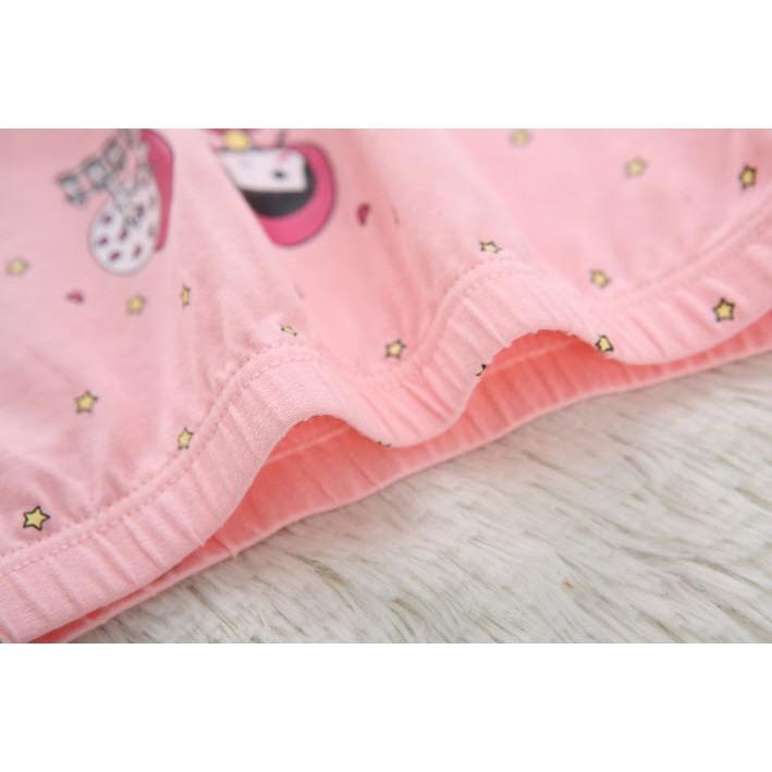 Quần Chíp Bé Gái,Quần Lót Bé Gái Set 5 Chiếc Kháng Khuẩn Cotton hàng Xuất Hàn Quốc Dành Cho Bé gái MINKHI 126005