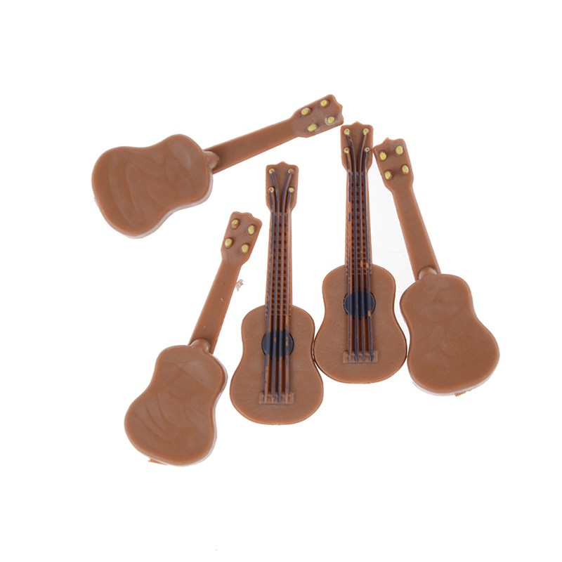 1:12/1:24 Dollhouse Miniature Music Instrument Classical Guitar Home Decor