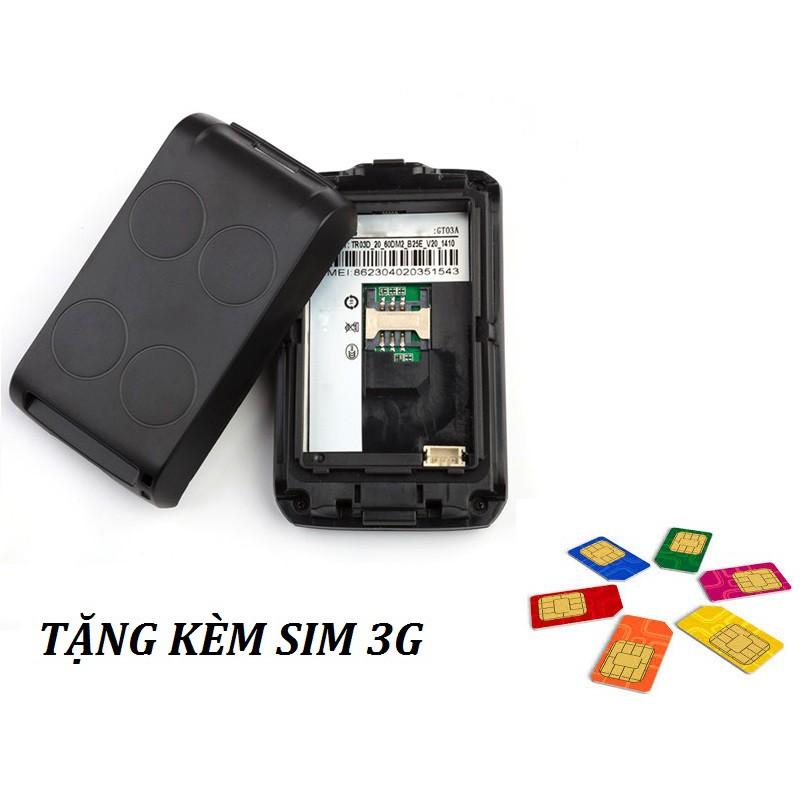 Thiết bị định vị GPS GT03A (Tặng kèm Sim 3G)
