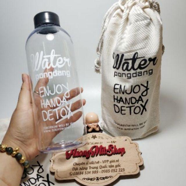 Kết quả hình ảnh cho bình nước Detox 1l nhựa có bao