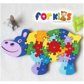 Ghép hình puzzle con vật cho bé