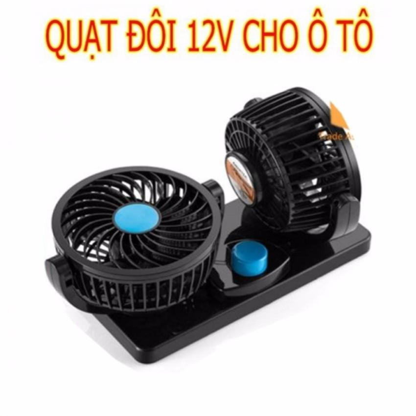 Quạt đôi mini thông minh 12V thông gió cho xe hơi xe tải xoay 360 độ - 3049122 , 1170148271 , 322_1170148271 , 138000 , Quat-doi-mini-thong-minh-12V-thong-gio-cho-xe-hoi-xe-tai-xoay-360-do-322_1170148271 , shopee.vn , Quạt đôi mini thông minh 12V thông gió cho xe hơi xe tải xoay 360 độ