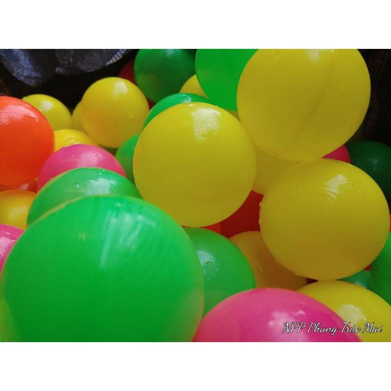Mã NPPBO20K giảm 20k]100 Quả Bóng nhựa cho bé chơi nhà banh loại to phi 8cm