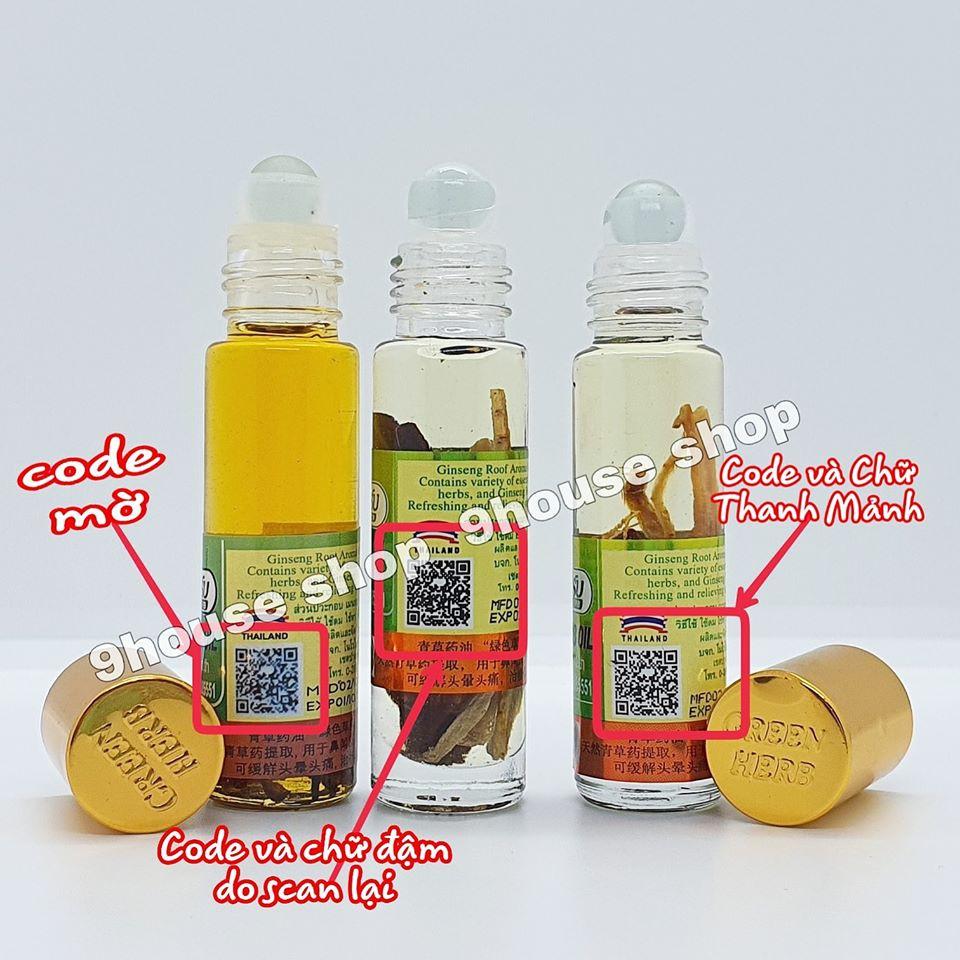 Dầu Nhân Sâm Ginseng Green Herb Oil 8ml Thái Lan