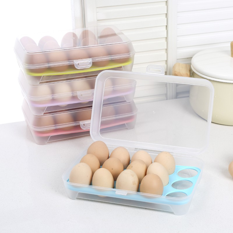 Hộp đựng trứng 15 ô nhỏ gọn