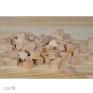 Handmade Square Wooden Block Puzzle Toy Natural Wood Cube Home Decor 100pcs