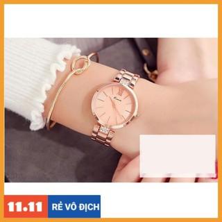 [Hàng chính hãng] [HÀNG CHÍNH HÃNG] Đồng hồ nữ Kimio 6133 dây thép ko gỉ hàng cao cấp