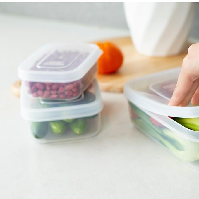 Hộp Nhựa Đựng Thực Phẩm Thức Ăn Hokkaido Chữ Nhật Cao Cấp Trong Suốt Bền Kín Chịu Nhiệt Cao Inochi Chính hãng