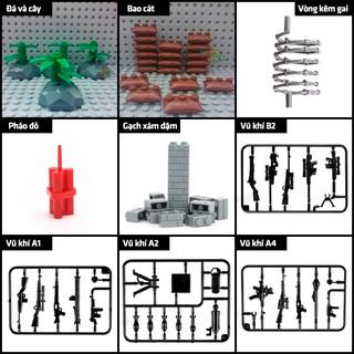 Phụ kiện Lego Moc: phụ kiện Lính Swat các loại