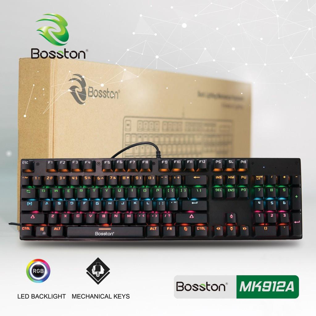 [Mã ELMS5 giảm 7% đơn 300K] Phím Cơ Chuyên Game Bosston MK912A Full LED