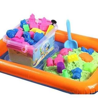 Bộ đồ chơi bằng cát sinh học kèm khuôn nhựa cho bé tập tạo hình