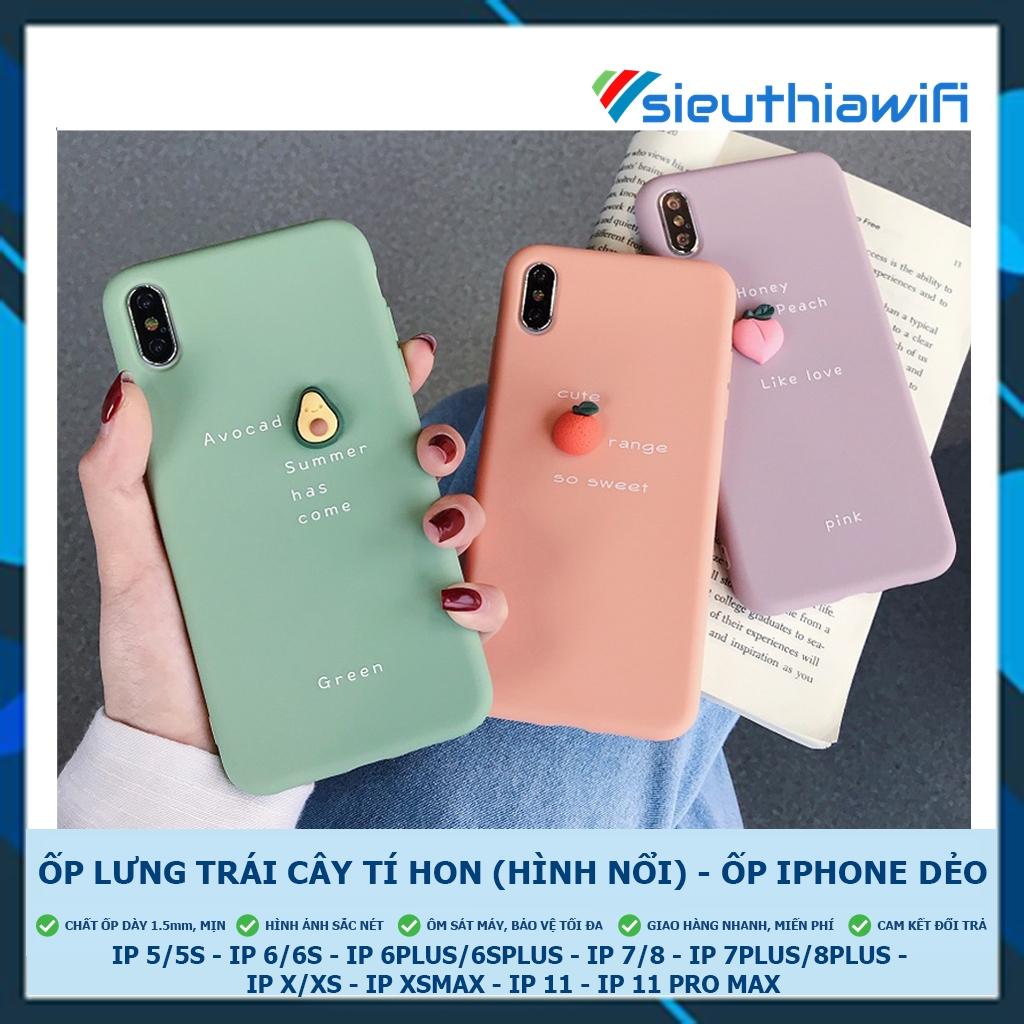 [ FREESHIP TỪ 50K TOÀN QUỐC ] ỐP LƯNG 3D TRÁI CÂY TÍ HON - ỐP IPHONE DẺO [ B5-5 ]