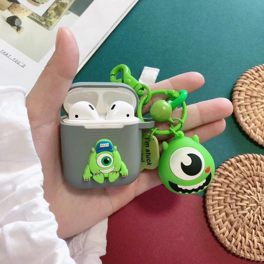 Vỏ Bảo Vệ Hộp Sạc Tai Nghe Bluetooth Không Dây Airpods 2 Bằng Silicon Hình Gấu Pooh Mắt To Dễ Thương Ốp
