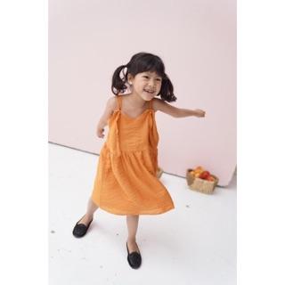[Mã KIDMALL15 hoàn 15% xu đơn 150K] Xéo Xọ Kid - Đầm Orange