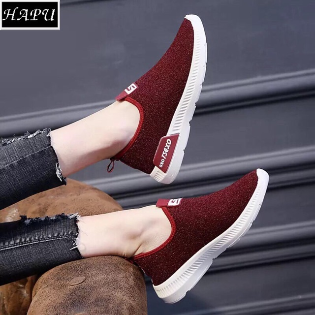 Giày lười nữ Texso ôm chân, có độn đế