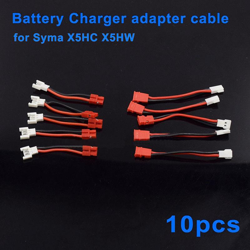 10pcs Battery And Charging Adapter Cable For Syma X5hc X5hw Spare Parts Rc Drone