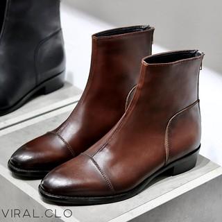 Giày nam Harness Boots Khóa Kéo Da Bò Đế Phíp Cao Cấp BẢO HÀNH 12 THÁNG .Tặng Phụ Kiện thumbnail