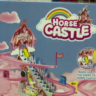 Đồ chơi ngựa lên cầu thang (tặng pin)