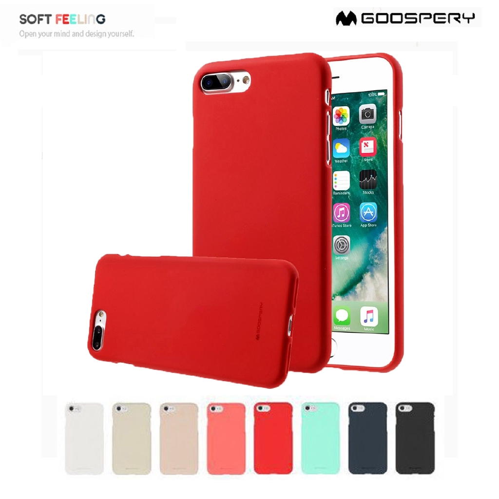 iPhone 7 / 8 - เคสยาง ซิลิโคน Soft Feeling Case Mercury (Goospery) แท้