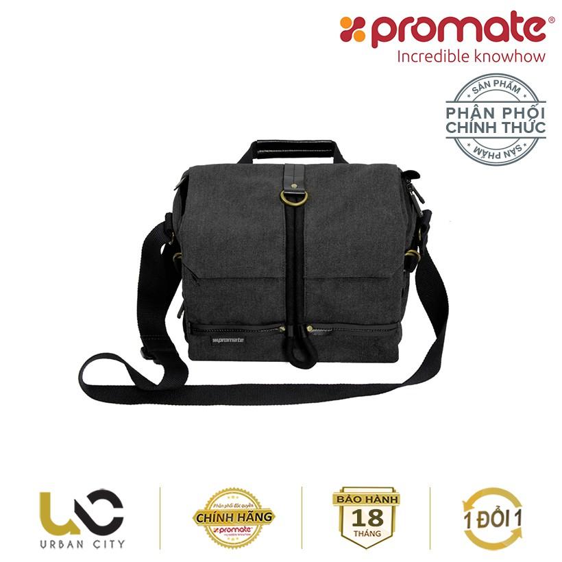 Túi đựng máy ảnh Promate xPlore-M có dây đeo vai (Cỡ trung) - Hàng Chính Hãng