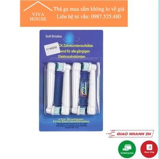 Bộ 4 đầu bàn chải đánh răng điện Oral B cho răng nhạy cảm răng bọc sứ niềng răng SB17A