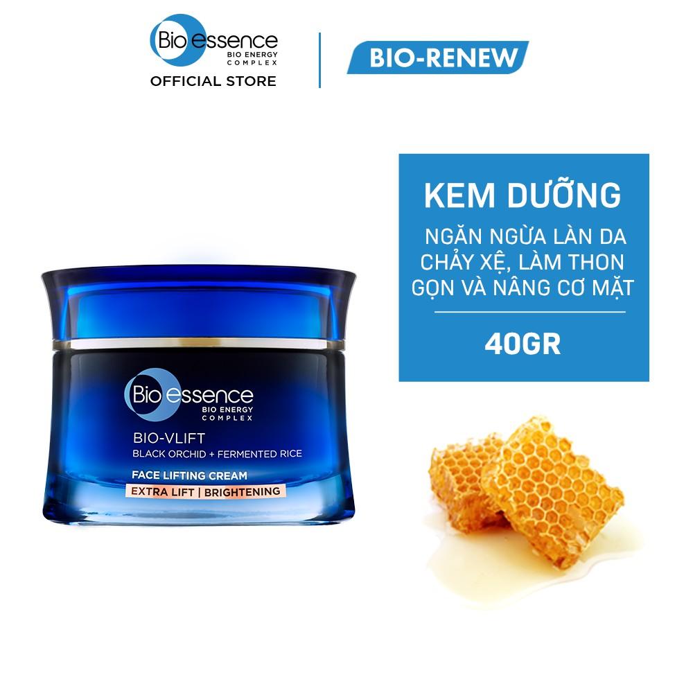 Kem nâng cơ mặt & dưỡng trắng Bio-Essence Bio-Vlift Brightening chiết xuất hoa phong lan đen 45gr