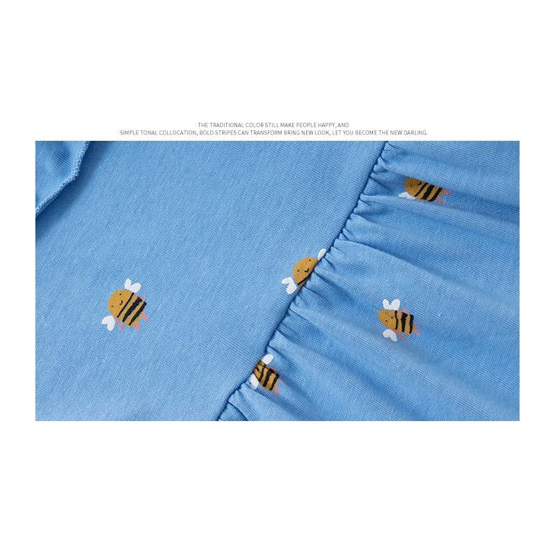 Mã 5337 váy xanh con ong của Malwee cho bé gái