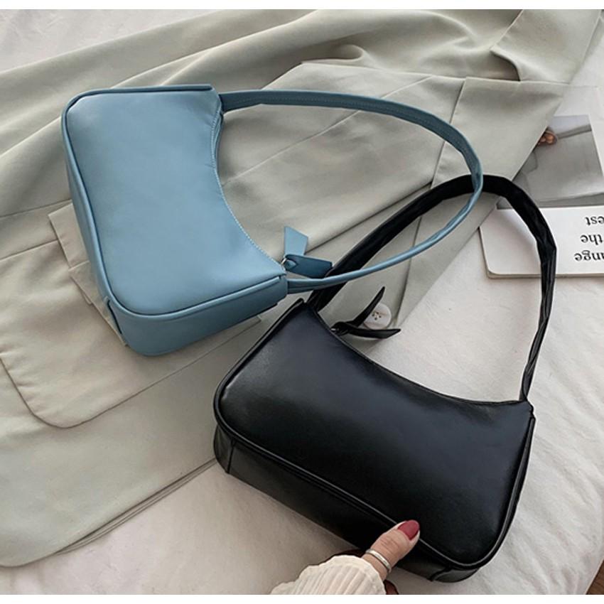 Túi đeo vai nữ, kẹp nách da mềm trơn siêu xinh TNX 433