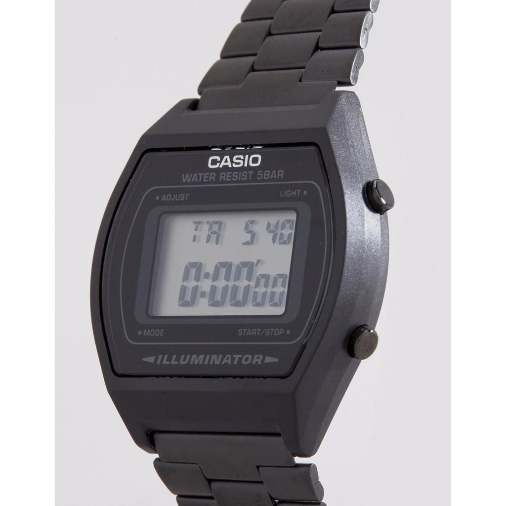 Đồng hồ nữ điện tử Casio B640WB-1ADF dây thép (chính hãng Anh Khuê)