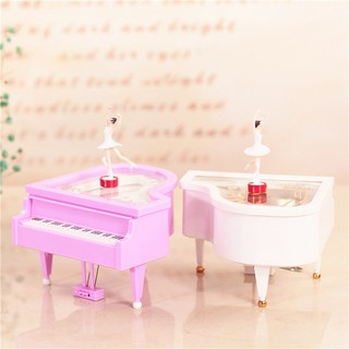 Hộp nhạc đàn piano cô gái khiêu vũ