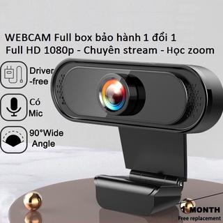 Webcam máy tính full hd 1080p full box siêu nét dùng cho máy tính laptop