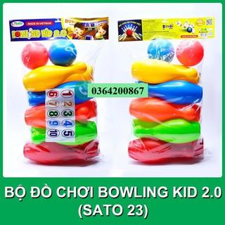 Bowling Mini 12 Món Cỡ Lớn Cho Bé Ném (Đóng Túi Thường) MS 23